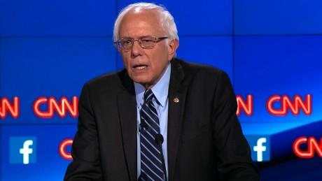 bernie sanders democratic debate socialist