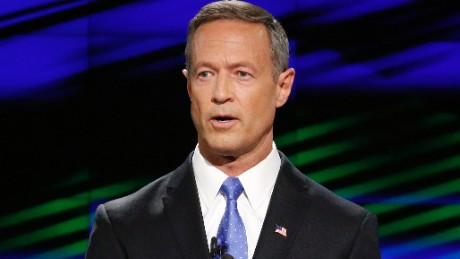 Democratic presidential candidate former Maryland Gov. Martin O'Malley speaks during the CNN Democratic presidential debate Tuesday, Oct. 13, 2015, in Las Vegas. (AP Photo/John Locher)