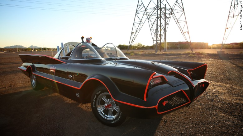 Driving the original Batmobile