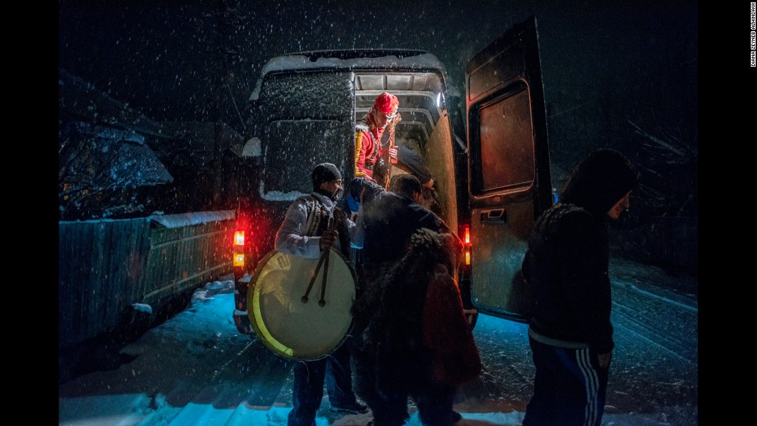 In the days leading up to New Year's, troupes of bears dance their way into the night, traveling by van through a handful of towns and villages in the Trotus Valley.