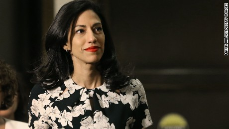 WASHINGTON, DC - OCTOBER 16: Huma Abedin, aide to former U.S. Secretary of State Hillary Clinton, arrives at a closed door hearing on Capitol Hill October 16, 2015 in Washington, DC. Abedin is beingÊinterviewed by the House Select Committee on Benghazi. (Photo by Mark Wilson/Getty Images)