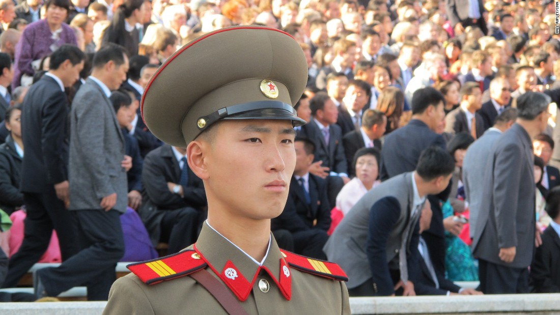 "In a carefully choreographed show of strength and celebration to mark the <a href=""http://edition.cnn.com/2015/10/10/asia/north-korea-military-parade/"">70th anniversary of the ruling Workers' Party</a>, hundreds of troops marched in elaborate formations across Pyongyang's Kim Il Sung Square, October 10, 2015."