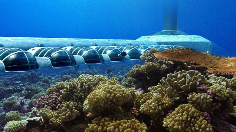 Off the coast of Fiji, U.S. Submarine Structures is engineering the world's first underwater resort. In addition to 24 suites, it'll contain a library, spa, bar, restaurant and event space -- all with views over a coral-filled lagoon teeming with fish.
