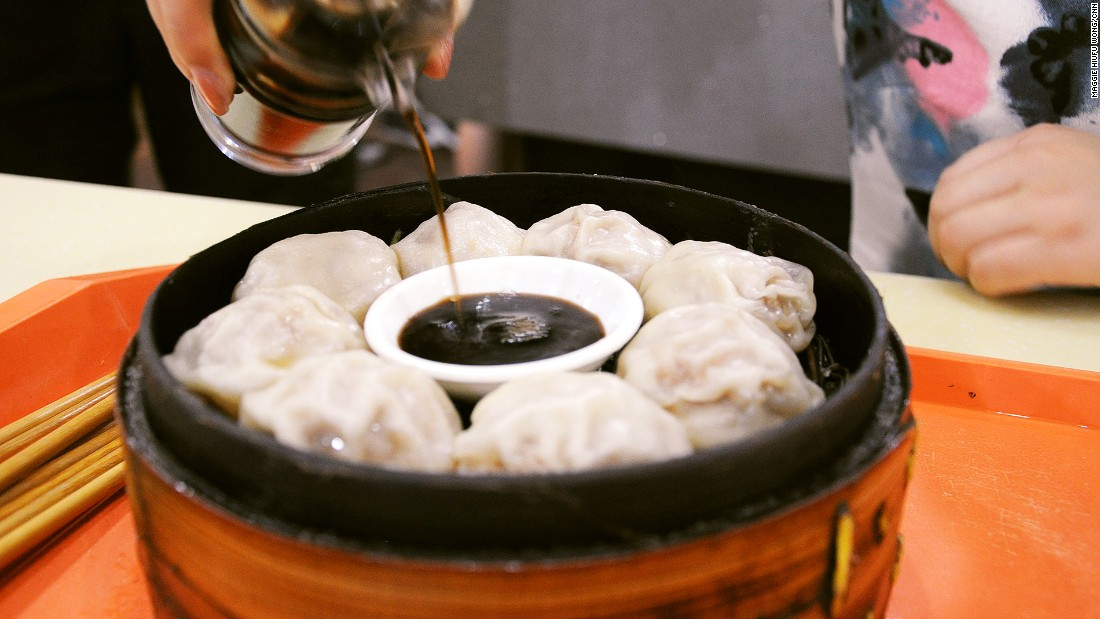 Tangbao are dumplings packed with pork meat and chicken broth in a paper-thin wrapper.