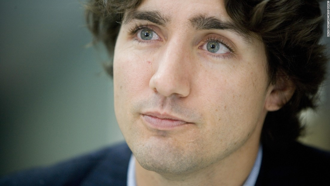 Justin Trudeau is interviewed in his campaign office in Montreal in October 2008, shortly before being elected to represent the Liberals in Parliament from the Montreal electoral district of Papineau.