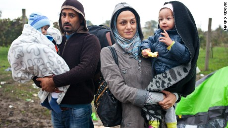 Camilia and her husband Abed Kordi are running away from war in Syria together with their children, daughter Lilian and son Abdul. The boat between Turkey and Greece in which they were almost sinked, and they almost got drowned. They want to go to Germany to have better life, although they are saying they know there is no place like home. Photo by Marko Risovic for CNN