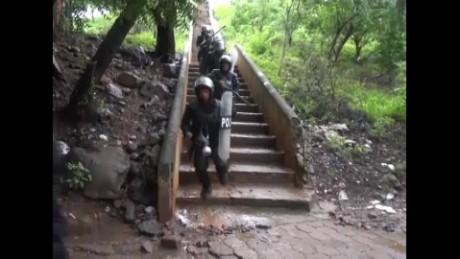 cnnee pkg lugo nicaragua miners strike_00003806
