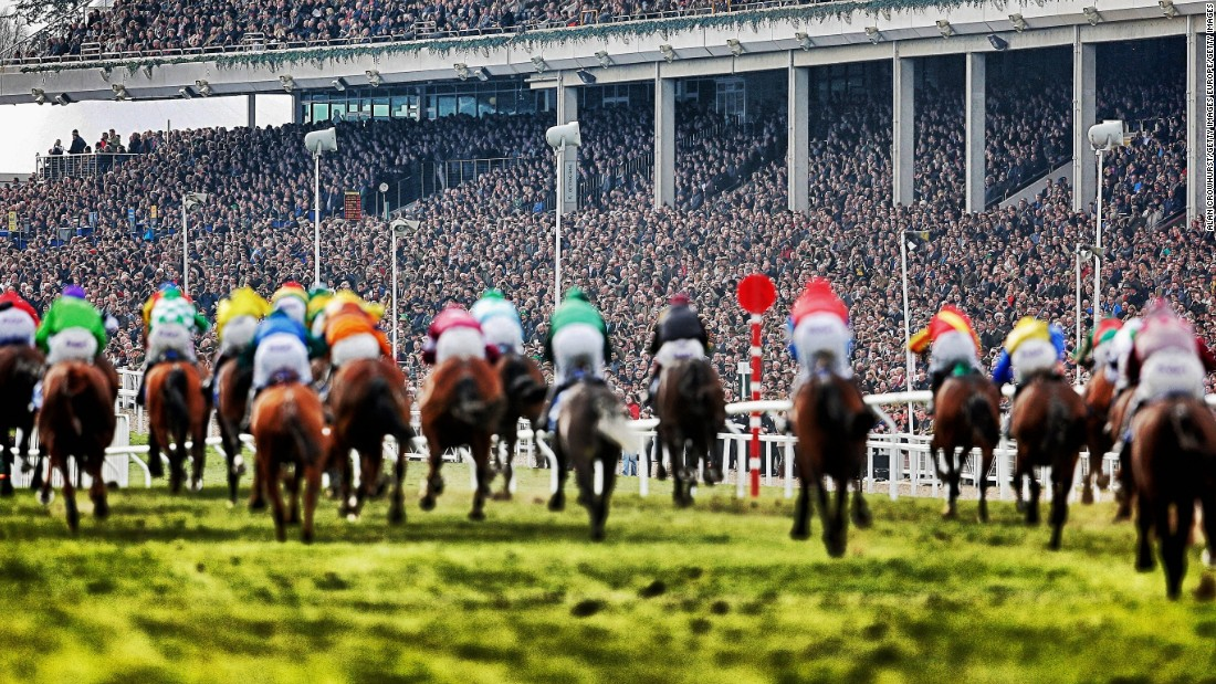 Each year in March, the Cheltenham Festival draws huge crowds.