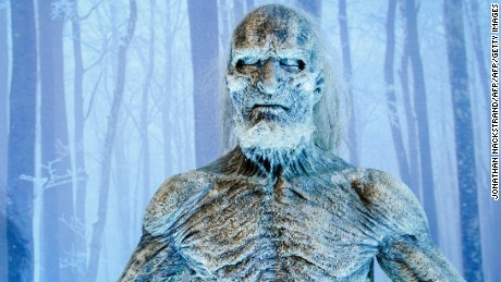 A model of the White Walker, character from the HBO American fantasy drama television series Game of Thrones is displayed at the International Game of Thrones exhibition in Stockholm on March 11, 2015. According to the television network HBO the fifth season of the fantasy drama television series Game of Thrones will start on April 12, 2015. AFP PHOTO/JONATHAN NACKSTRAND +++  RESTRICTED TO EDITORIAL USE - MANDATORY MENTION OF THE ARTIST UPON PUBLICATION, TO ILLUSTRATE THE EVENT AS SPECIFIED IN THE CAPTION        (Photo credit should read JONATHAN NACKSTRAND/AFP/Getty Images)