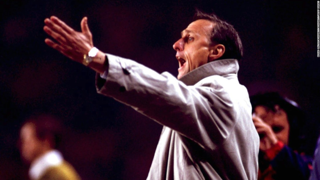 Cruyff moved from Ajax to Barcelona, where his skill once won the hearts of the Catalan fans. He also enjoyed success as Barca manager, guiding the team to its first European Cup triumph in 1992. Under Cruyff, Barca also won four consecutive Spanish La Liga titles, the European Cup Winners' Cup and the Spanish Copa del Rey.