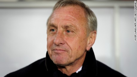 Football legend Johan Cruyff dies aged 68