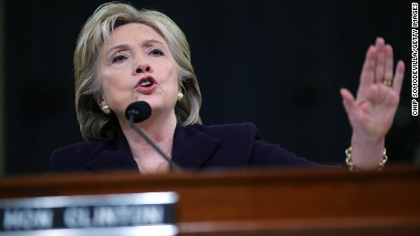 Democratic presidential candidate and former Secretary of State Hillary Clinton testifies before the House Select Committee on Benghazi October 22, 2015 on Capitol Hill in Washington, D.C.