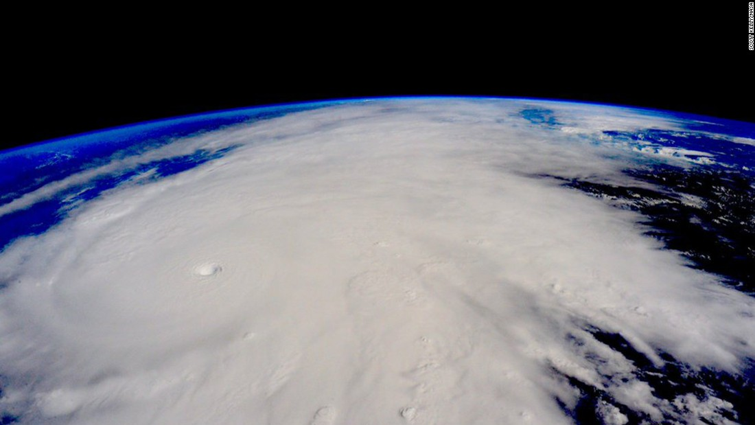 "Hurricane Patricia approaches the Pacific coast of Mexico in this photo that astronaut Scott Kelly <a href=""https://twitter.com/StationCDRKelly/status/657618739492474880"" target=""_blank"">tweeted</a> from the International Space Station on Friday, October 23. Patricia is the strongest hurricane ever recorded at sea, with sustained winds of 200 mph."