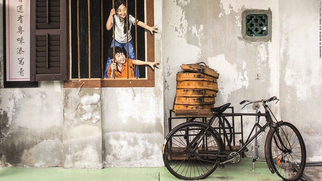 "Not only is George Town a <a href=""http://travel.cnn.com/george-town-penang-asias-greatest-street-food-city-657636"">street food haven</a>, it has a vibrant street art scene."