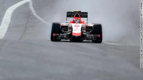 AUSTIN, TX - OCTOBER 23:  Alexander Rossi of the United States and Manor Marussia drives during practice for the United States Formula One Grand Prix at Circuit of The Americas on October 23, 2015 in Austin, United States.  (Photo by Dan Istitene/Getty Images)