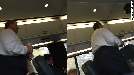 Photos of Christie taken by a passenger