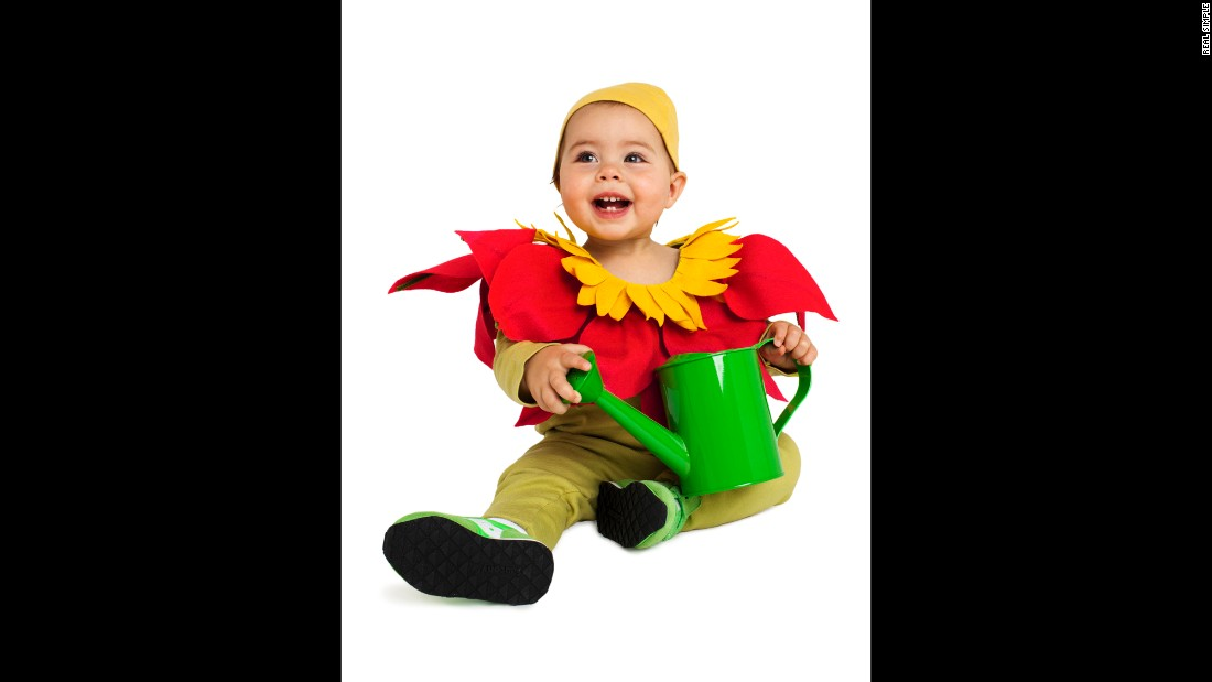 "<a href=""http://www.realsimple.com/holidays-entertaining/holidays/halloween/last-minute-halloween-costume-ideas"" target=""_blank"">Real Simple</a> came up with last-minute costume ideas for kids, like this easy flower getup. <a href=""http://www.cnn.com/2013/10/31/living/real-simple-halloween-costumes/index.html"">Read more ideas here</a>."
