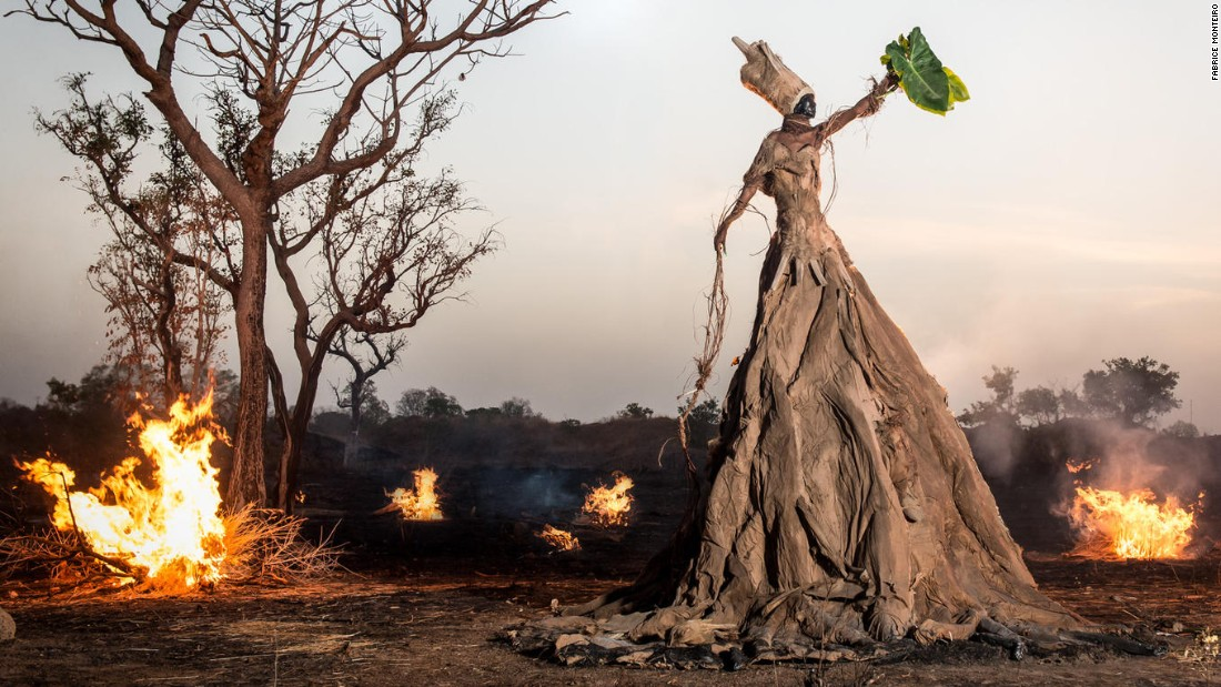 "Photographer Fabrice Monteiro has teamed up with costume designer Doulsy to create a photo series with a strong message. Capturing haunting pictures of the world's diminishing environmental state, the series, titled ""The Prophecy,"" highlights global concerns from ocean waste to careless consumer culture."