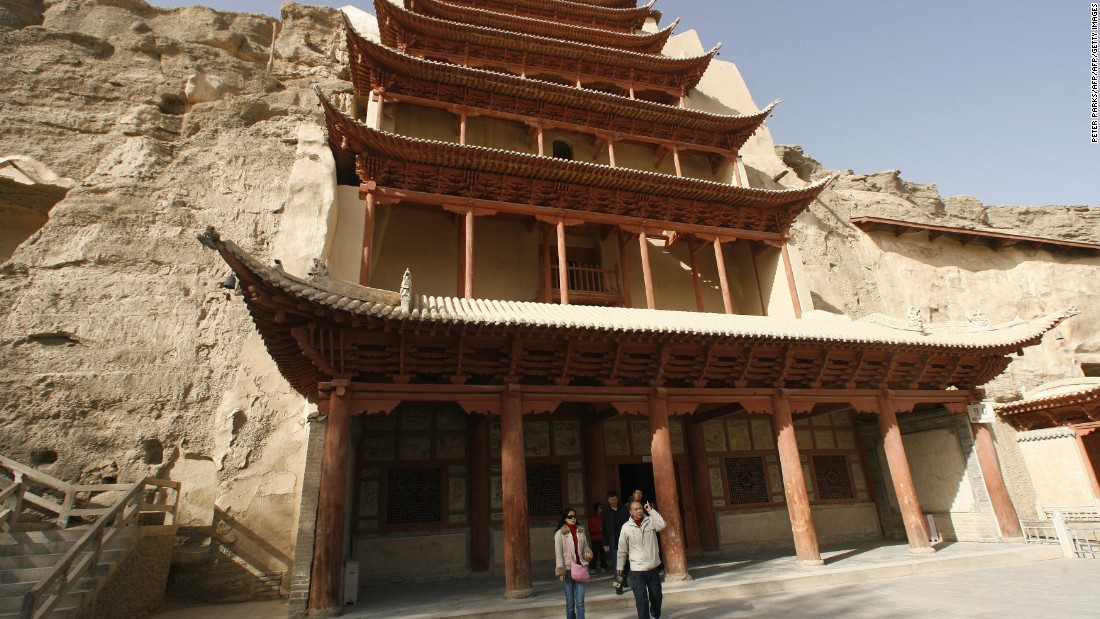 The Mogao Grottoes are located in the Gansu province in northwest China. The site was first constructed in 166 AD features Buddhist art from the 4th to 14th century.