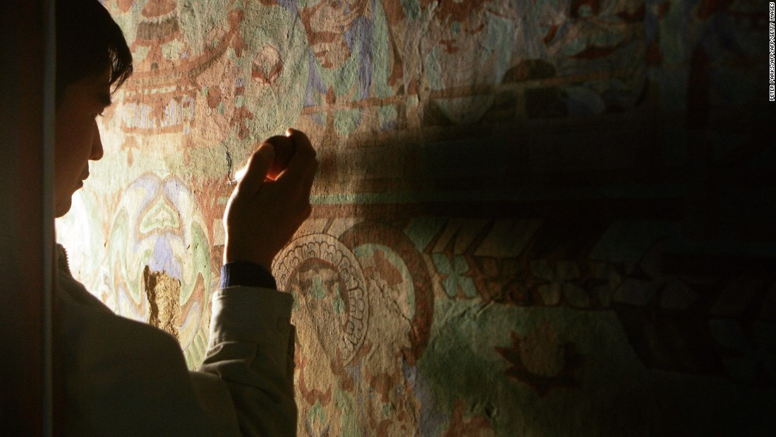 The Mogao Grottoes is hailed for its architecture, but also features caves, wall paintings, sculptures and cultural relics. Conservation plans for the Mogao Grottoes is currently in the works to fight against deterioration factors, such as increased tourism and climate change.<br />