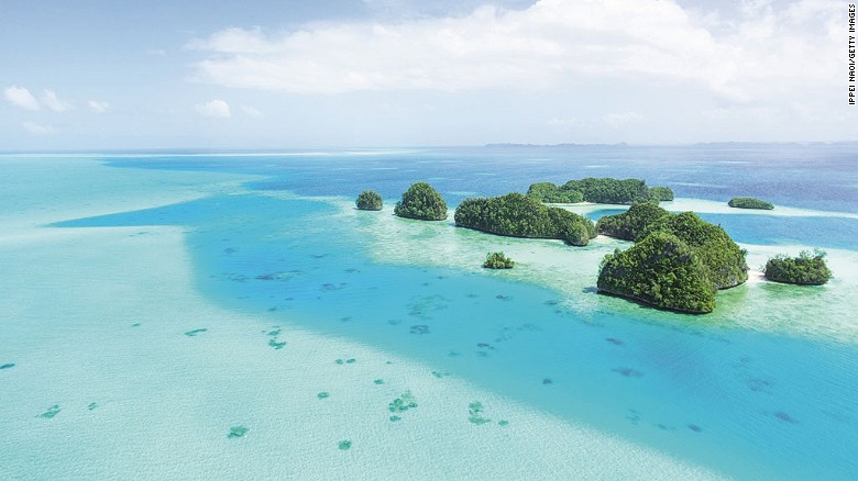 "Palau is a Pacific archipelago of about 200 limestone and volcanic islands, covered in rich forest and surrounded by turquoise seas. Its diving and snorkeling opportunities have led some to call it ""the underwater Serengeti."""