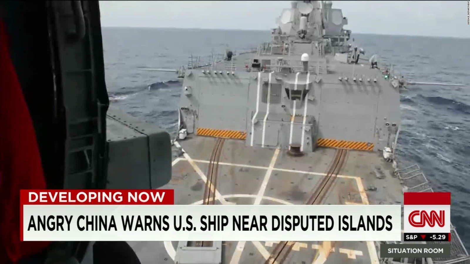 China says it warned and tracked U.S. warship in South China Sea
