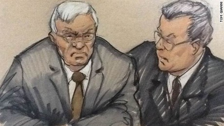 Dennis Hastert with his attorney Thomas Green