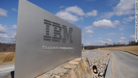 """(FILES) This March 20, 2009 f(FILES) This March 20, 2009 file photo shows a sign at the entrance to IBM Corporate Headquarters in Armonk, New York. IBM is bringing its """"cloud"""" computing power to a deal with The Weather Company. Under the agreement announced October 28, 2015, IBM will acquire the product and technology operations of the group, which operates the weather.com website and mobile application, among others. The deal allows IBM to use its Watson supercomputer to collect and analyze weather data for the weather.com websites and mobile app, which handles 26 billion inquiries each day. AFP PHOTO/Stan Honda/FILESSTAN HONDA/AFP/Getty Imagesile photo shows a sign at the entrance to IBM Corporate Headquarters in Armonk, New York. IBM is bringing its """"cloud"""" computing power to a deal with The Weather Company. Under the agreement announced October 28, 2015, IBM will acquire the product and technology operations of the group, which operates the weather.com website and mobile application, among others. The deal allows IBM to use its Watson supercomputer to collect and analyze weather data for the weather.com websites and mobile app, which handles 26 billion inquiries each day.    AFP PHOTO/Stan Honda/FILESSTAN HONDA/AFP/Getty Images"""