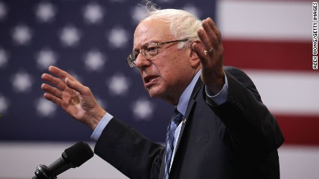 """Democratic presidential candidate and U.S. Sen. Bernie Sanders (I-VT) speaks during a """"National Student Town Hall"""" at George Mason University October 28, 2015 in Fairfax, Virginia."""