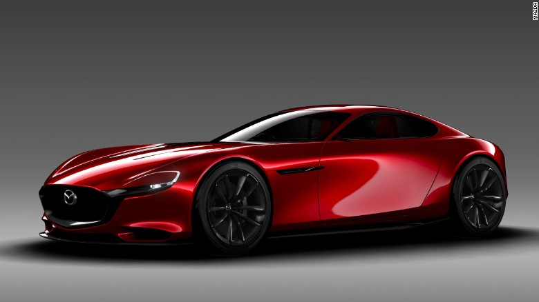 Mazda's RX-Vision will revive its rotary engine technology, previously seen on the RX-7.