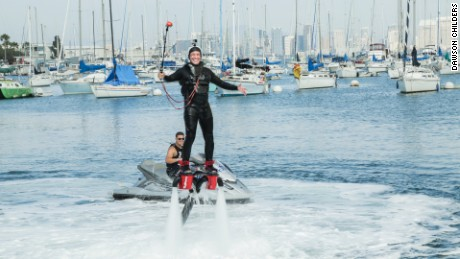 Somebody's Gotta Do It - Episode 121 - A very happy Mike Rowe successfully gets some air on the Flyboard.