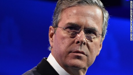 Republican Presidential hopeful Jeb Bush attends the CNBC Republican Presidential Debate, October 28, 2015 at the Coors Event Center at the University of Colorado in Boulder, Colorado.