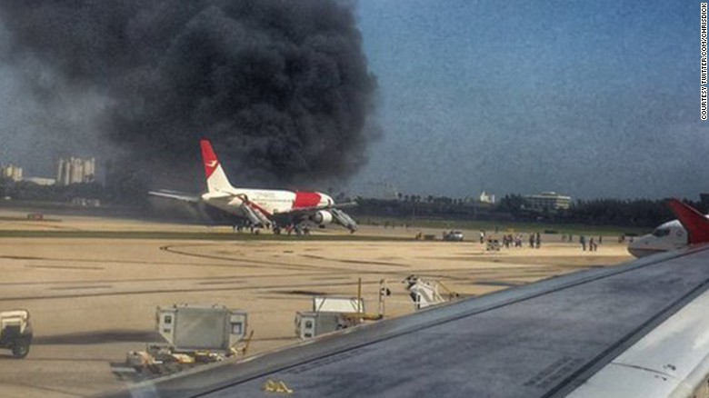 Plane Fire Closes Fort Lauderdale Airport