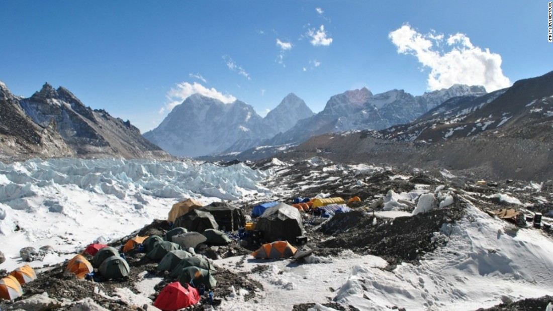 Researchers set up their laboratory at the highest altitude possible -- Mount Everest base camp.