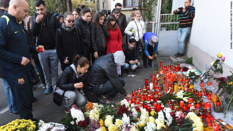 Thousands march to remember victims of Bucharest nightclub fire