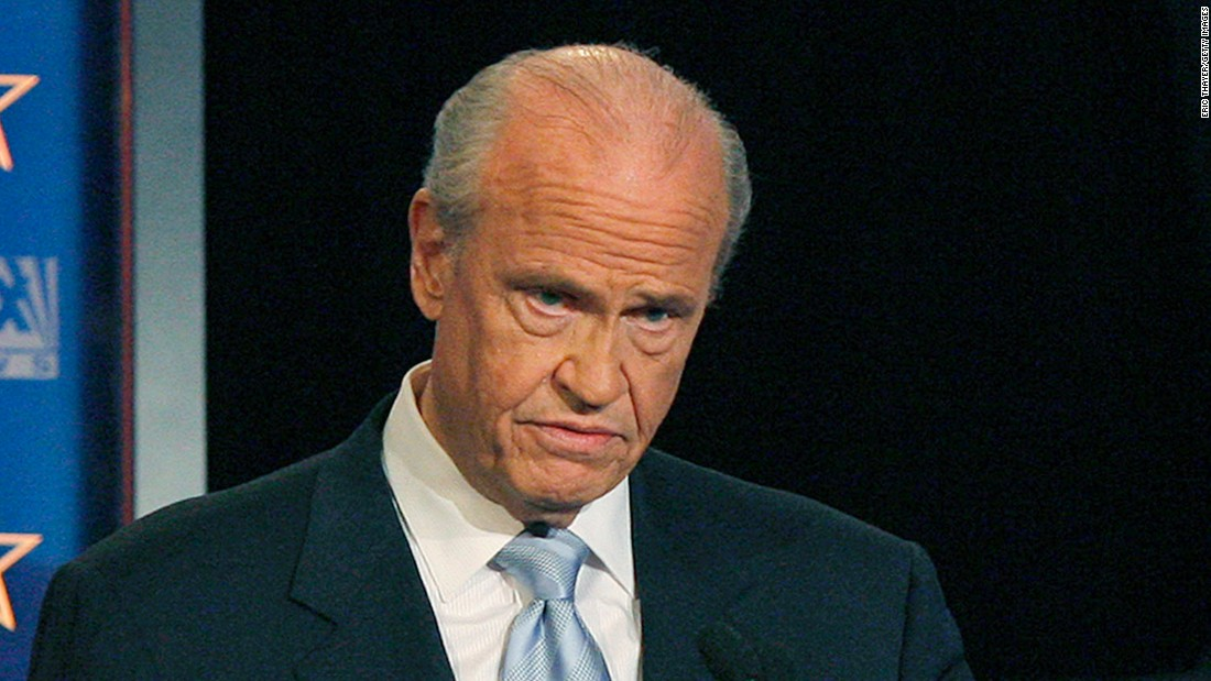 "Former presidential candidate, senator and actor Fred Thompson <a href=""http://www.cnn.com/2015/11/01/us/fred-thompson-dies-tennessee/index.html"">has died</a> at age 73, his family said Sunday."