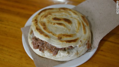 Roujiamo is a famous small bite enjoyed throughout China.
