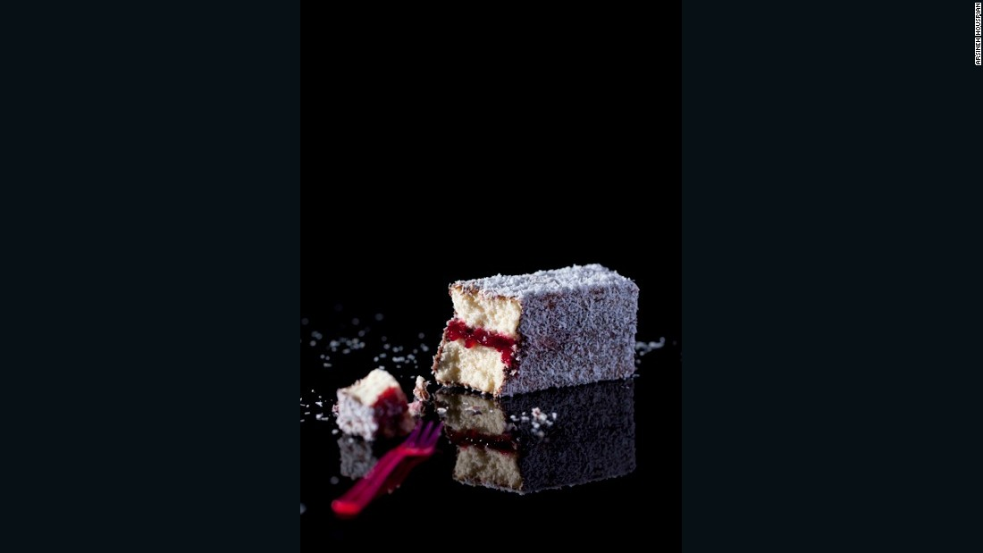 The classic Aussie Lamington is named after a former governor of Queensland. It consists of plain sponge cake jazzed up with a chocolate coating and coconut sprinkles.