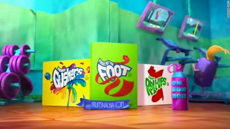 """Researchers from the <a href=""""http://www.uconnruddcenter.org/"""" target=""""_blank"""">University of Connecticut Rudd Center for Food Policy and Obesity</a> ranked how often children ages 6 to 11 saw snack ads in 2014 based on Nielsen syndicated data. <br /><br />The products children saw advertised most often were <a href=""""https://www.youtube.com/watch?v=K8joEQM_e8w"""" target=""""_blank"""">Betty Crocker fruit snacks</a>, such as Fruit Gushers and Fruit Roll-Ups. Children saw those ads an average of 97.1 times in 2014, the report said."""