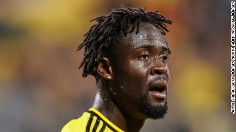 COLUMBUS, OH - MARCH 14:  Kei Kamara #23 of the Columbus Crew SC in action against Toronto FC on March 14, 2015 at MAPFRE Stadium in Columbus, Ohio.  (Photo by Jamie Sabau/Getty Images)