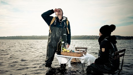 Knee-deep dining: Oyster safari off the coast of Denmark