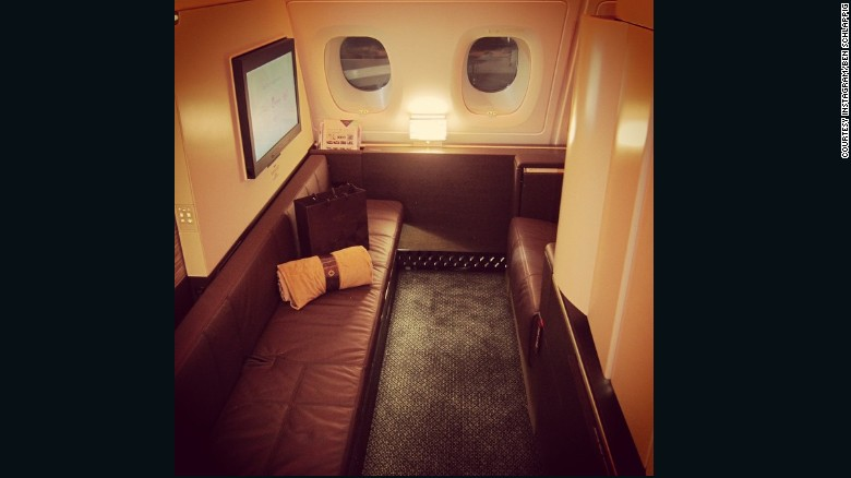 """My Etihad A380 First Class Apartment. This beats every other first class hard product by a mile. Period,"" said Schlappig in this Instagram post."