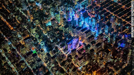 The Big Apple, New York City, as captured by photographer Vincent Laforet for his AIR project.