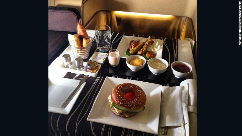 """Probably Etihad. They have an on-board chef, so it's not just a set-menu, you can actually order just about anything you want and they will make it for you,"" he said."