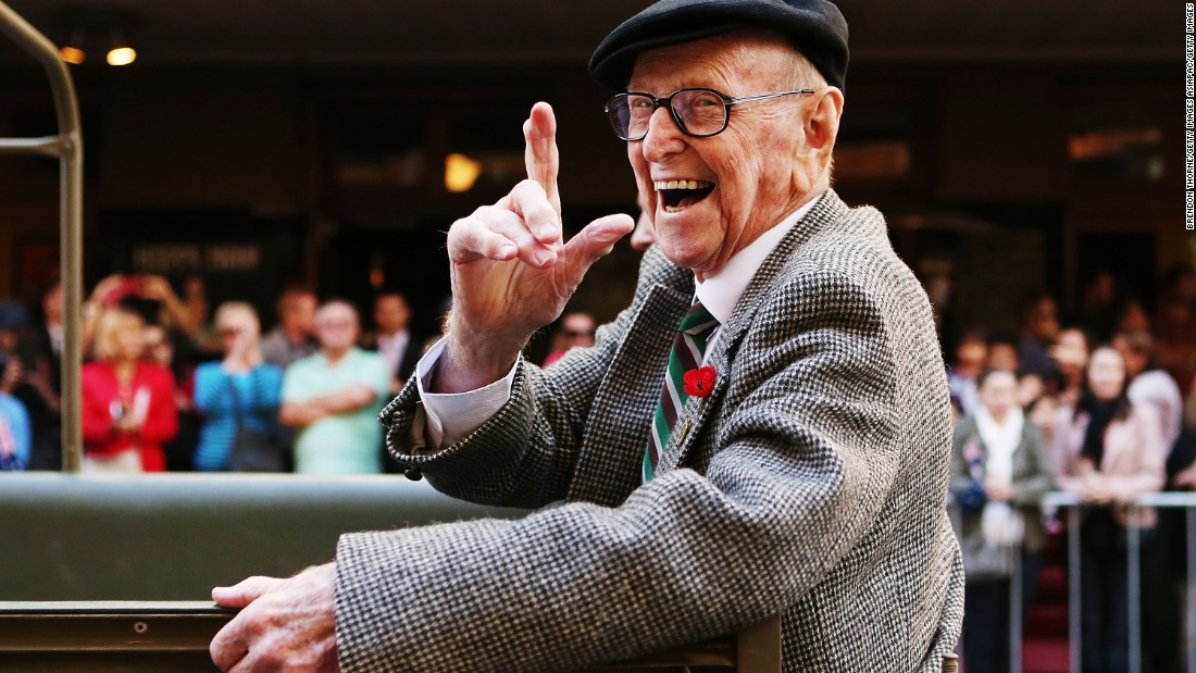 The universal health care system in Australia, combined with Australians' outdoor lifestyle, help people live longer, according to experts. Pictured, a war veteran during ANZAC Day.
