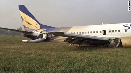 Shaheen Air Flight 142 has been arriving coming from Karachi if the plane slipped off the particular runway.