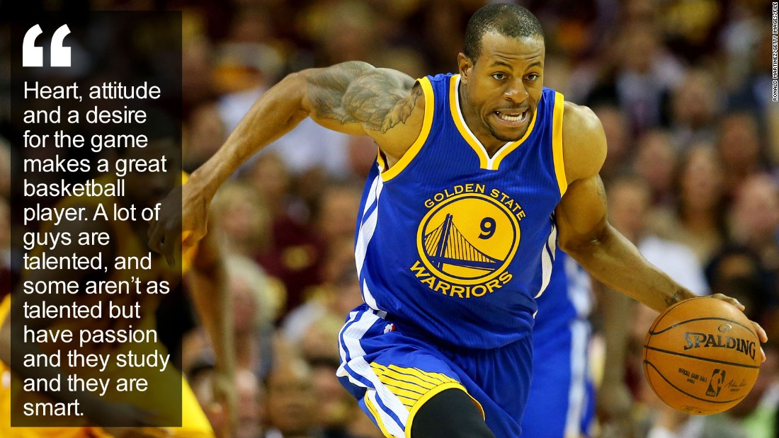 """For Andre Iguodala, basketball is a game of teamwork, selflessness, leadership and, oddly, cooking. The NBA's """"chef"""" has whipped up a championship-winning recipe. <a href=""""http://edition.cnn.com/2015/11/04/sport/andre-iguodala-golden-state-nba-basketball-olympics/index.html"""" target=""""_blank"""">Read more</a>"""