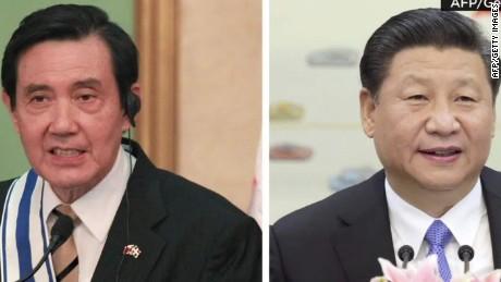 chinese president xi jinping taiwan president Ma Ying jeou meet rivers intv nr _00002510
