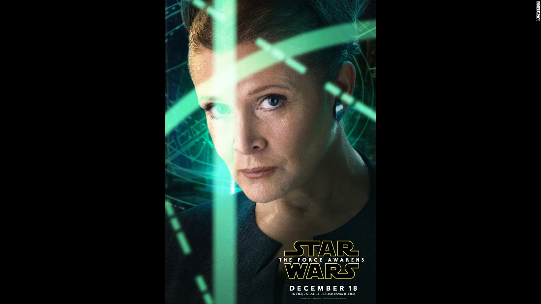 This is the best look we've had thus far of Carrie Fisher reprising her role as Princess Leia.