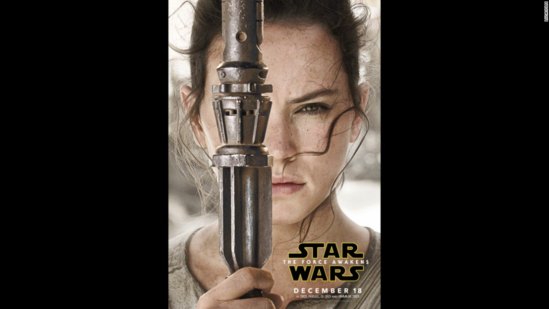 There's some mystery behind Daisy Ridley's character, Rey.